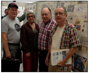 Shown in the picture below (L-R): Bradley, Barbara, David McNamee (COALPEX Exhibits), and Larry. Nancy is the photographer.