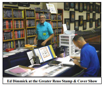 Ed Dimmick at the Greater Reno Stamp Show