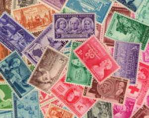 Collection of old US stamps